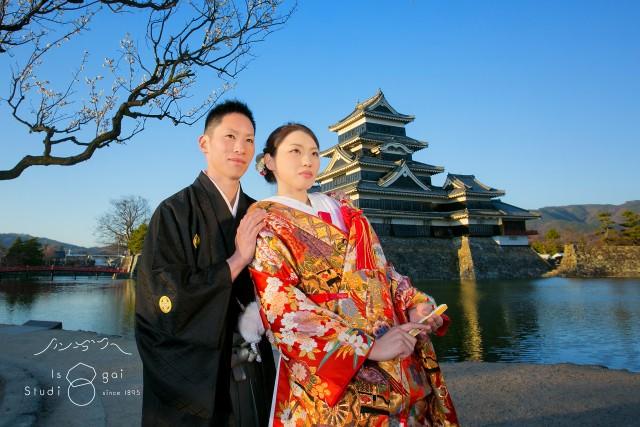 結婚写真 松本城 ロケーション