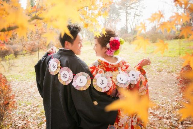 長野 結婚写真 紅葉